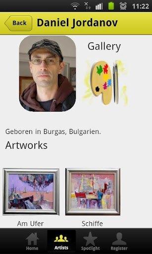 Arts International App Snapshop